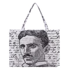 Nikola Tesla Medium Tote Bag