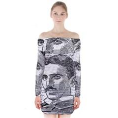Nikola Tesla Long Sleeve Off Shoulder Dress