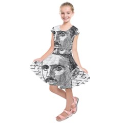 Nikola Tesla Kids  Short Sleeve Dress