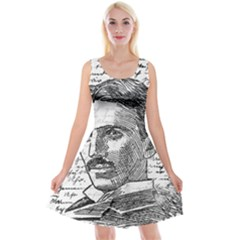 Nikola Tesla Reversible Velvet Sleeveless Dress