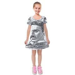 Nikola Tesla Kids  Short Sleeve Velvet Dress