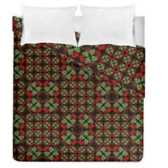 Asian Ornate Patchwork Pattern Duvet Cover Double Side (Queen Size)