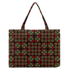 Asian Ornate Patchwork Pattern Medium Zipper Tote Bag