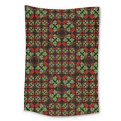 Asian Ornate Patchwork Pattern Large Tapestry