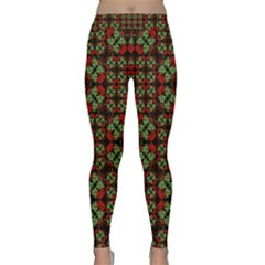 Asian Ornate Patchwork Pattern Classic Yoga Leggings