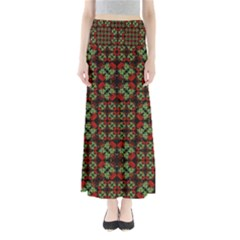 Asian Ornate Patchwork Pattern Maxi Skirts