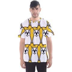 Yellow Owl Background Men s Sport Mesh Tee