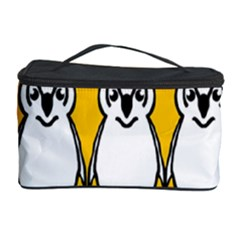 Yellow Owl Background Cosmetic Storage Case