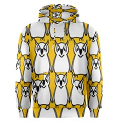 Yellow Owl Background Men s Pullover Hoodie
