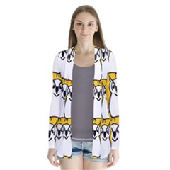 Yellow Owl Background Cardigans