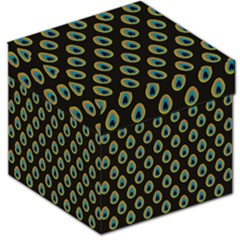Peacock Inspired Background Storage Stool 12
