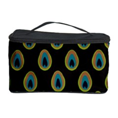Peacock Inspired Background Cosmetic Storage Case