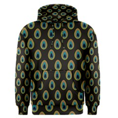 Peacock Inspired Background Men s Pullover Hoodie