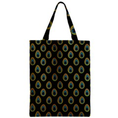 Peacock Inspired Background Zipper Classic Tote Bag