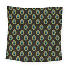 Peacock Inspired Background Square Tapestry (large)
