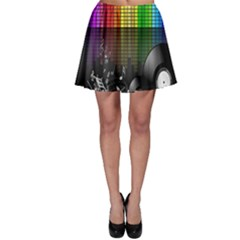 Music Pattern Skater Skirt