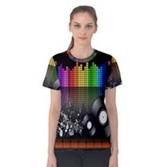 Music Pattern Women s Cotton Tee