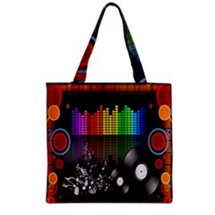 Music Pattern Grocery Tote Bag