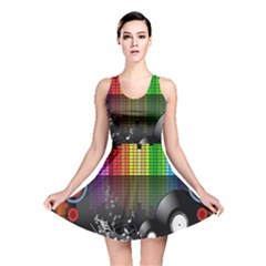 Music Pattern Reversible Skater Dress