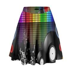 Music Pattern High Waist Skirt