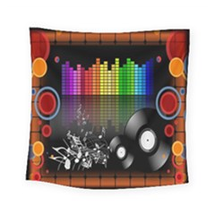 Music Pattern Square Tapestry (small)