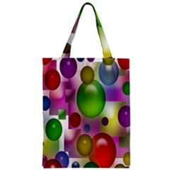 Colorful Bubbles Squares Background Classic Tote Bag