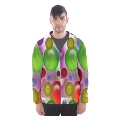Colorful Bubbles Squares Background Hooded Wind Breaker (Men)