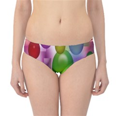 Colorful Bubbles Squares Background Hipster Bikini Bottoms