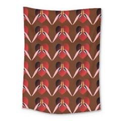 Peacocks Bird Pattern Medium Tapestry