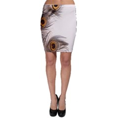 Peacock Feathery Background Bodycon Skirt