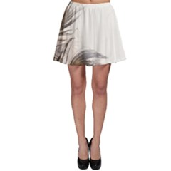 Peacock Feathery Background Skater Skirt