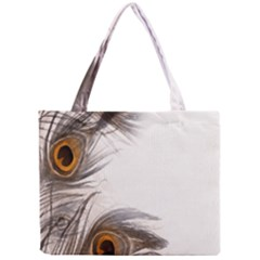 Peacock Feathery Background Mini Tote Bag