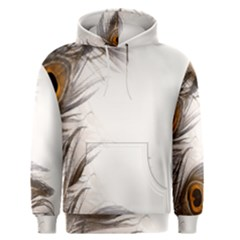 Peacock Feathery Background Men s Pullover Hoodie