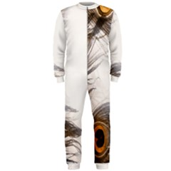 Peacock Feathery Background OnePiece Jumpsuit (Men)