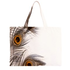 Peacock Feathery Background Large Tote Bag