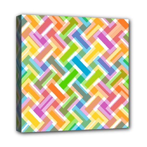 Abstract Pattern Colorful Wallpaper Mini Canvas 8  X 8