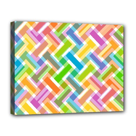 Abstract Pattern Colorful Wallpaper Canvas 14  X 11