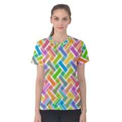 Abstract Pattern Colorful Wallpaper Women s Cotton Tee