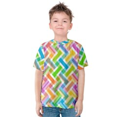 Abstract Pattern Colorful Wallpaper Kids  Cotton Tee