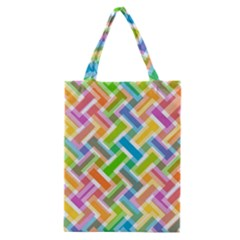 Abstract Pattern Colorful Wallpaper Classic Tote Bag