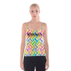 Abstract Pattern Colorful Wallpaper Spaghetti Strap Top