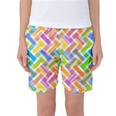 Abstract Pattern Colorful Wallpaper Women s Basketball Shorts