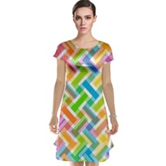 Abstract Pattern Colorful Wallpaper Cap Sleeve Nightdress