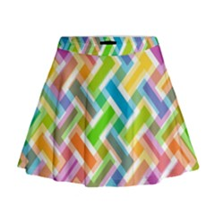 Abstract Pattern Colorful Wallpaper Mini Flare Skirt
