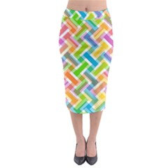 Abstract Pattern Colorful Wallpaper Midi Pencil Skirt