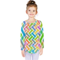 Abstract Pattern Colorful Wallpaper Kids  Long Sleeve Tee