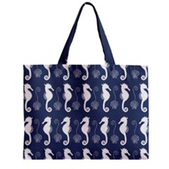 Seahorse And Shell Pattern Mini Tote Bag