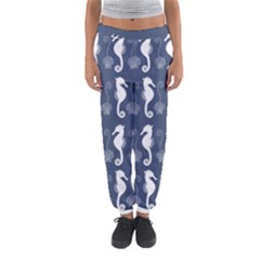 Seahorse And Shell Pattern Women s Jogger Sweatpants