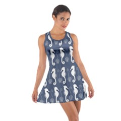 Seahorse And Shell Pattern Cotton Racerback Dress