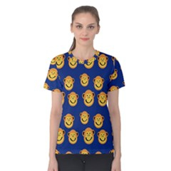 Monkeys Seamless Pattern Women s Cotton Tee